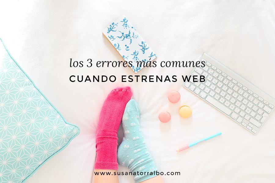 errores más comunes cuando estrenas una web